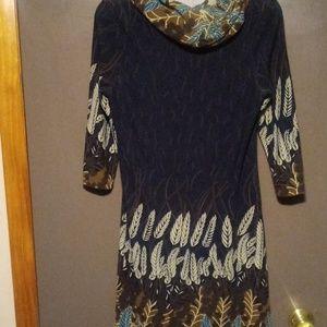 Tribal Print Sweater Dress